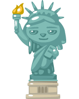 Liberty Pet Statue