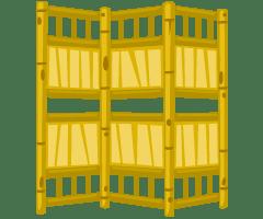 tiki-folding-screen