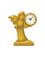 CASH_golden-goddess-clock