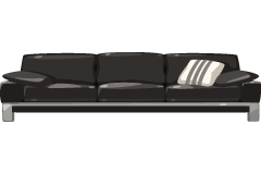 Contemporary-Black-Sofa