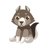 Wolf-Plushie