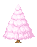 the pink holiday tree