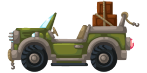 Jungle Jeep Clipart