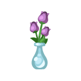 Vase of Purple Tulips