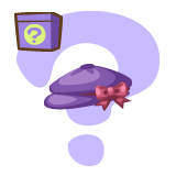 Purple Ribboned Hat