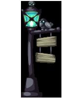 Zombie Wedding Iron Lamp Post